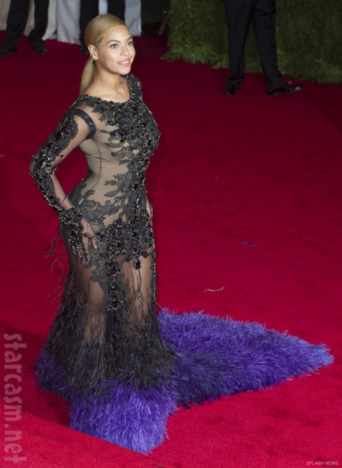 Beyonce 2012 Costume Institute Ball red carpet