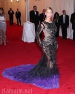 Beyonce nude illusion Givenchy dres at 2012 Met Gala