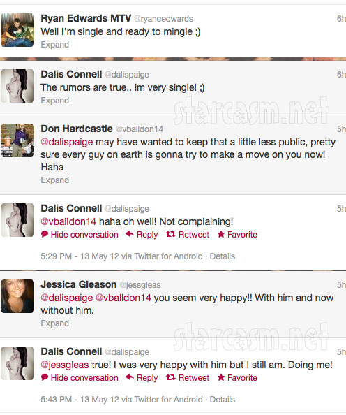 Ryan Edwards Dalis Connell break up tweets
