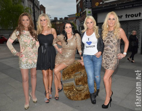 The Real Housewives of South Dublin cast poses for a photo at their launch party