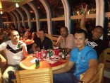 These are some of Nelson's friends and crewmates on board the Disney Wonder.