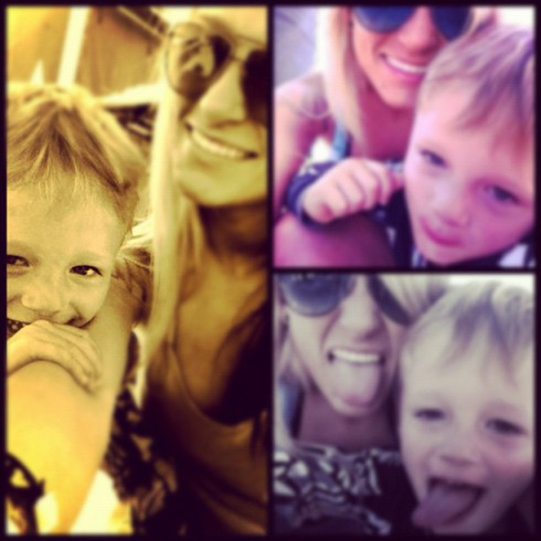 Maci Bookout and Bentley photo montage