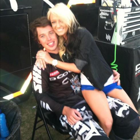 Maci Bookout with supercross boyfriend Kyle Regal