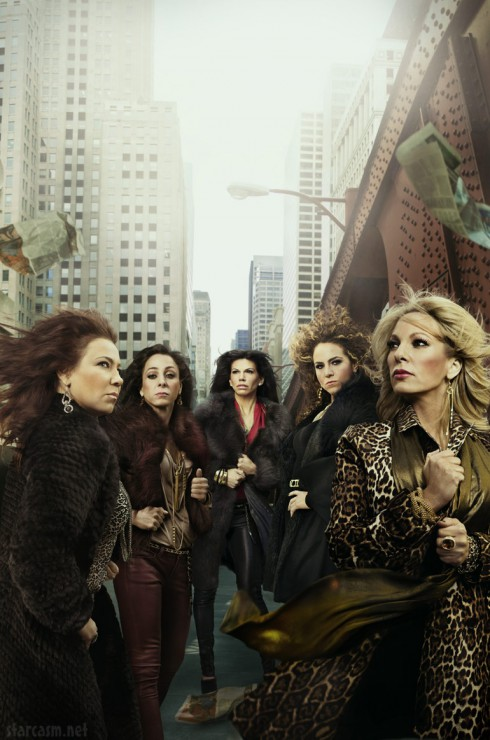 Photo of the Mob Wives Chicago cast Christina Nora Pia Leah Renee
