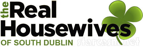 Real Housewives of South Dublin logo with a shamrock