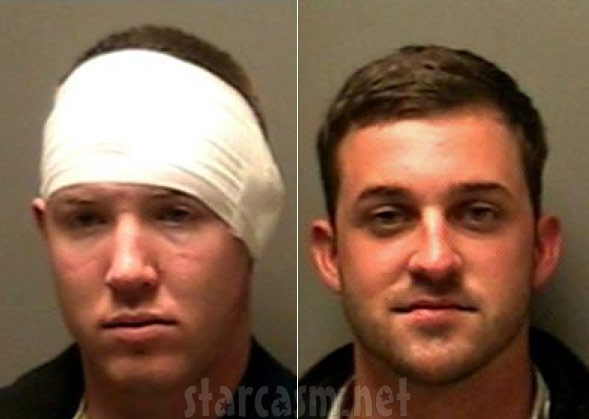 Sean Mosey and Chris Slate mug shots for vandalizing McDonalds