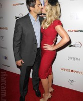 Tamra Barney Eddie Judge kissing at the Wines By Wives launch event May 8 2012