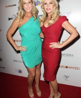 Tamra Barney with Vicki Gunvalson at the Wines By Wives launch event May 8 2012