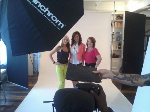 Maci Bookout Farrah Abraham and Catelynn Lowell pose for Teen Mom Season 4 photos