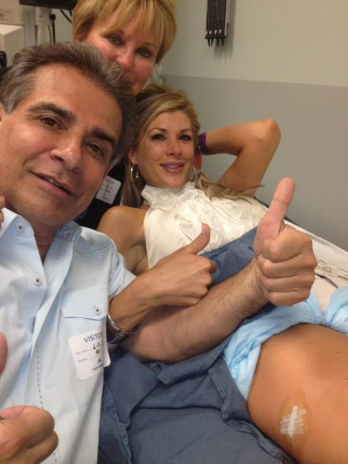 Alexis Bellino gets stitches after sitting on a wine glass celebrating husband Jim Bellino's 50th birthday