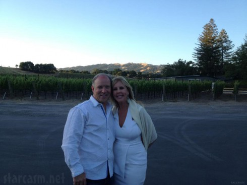 Vicki Gunvalson and Brooks Ayers in Napa June 2012