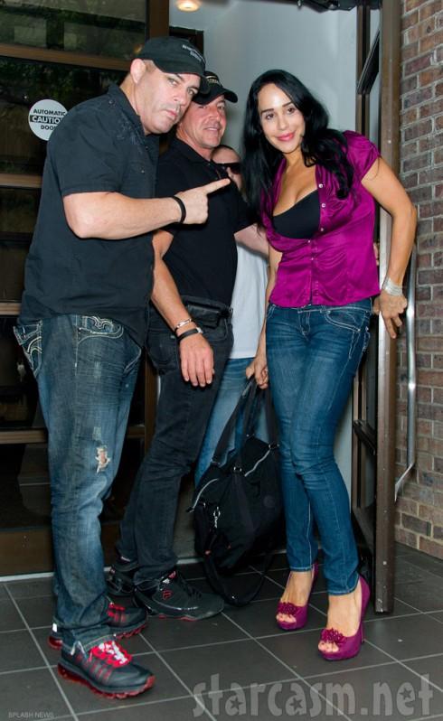 Celebrity fight promoter Damon Feldman with Michael Lohan and Nadya Suleman