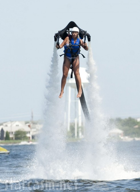 JWoww flies around in jet pack while filming Jersey Shore Season 6