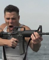 Jeremy Luc as TC The Complication in SYFY's Jersey Shore Shark Attack movie