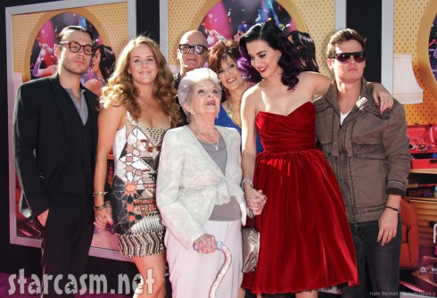 Katy Perry's grandmother and family attend the Katy Perry Part of Me World Premiere