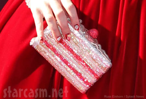 Katy Perry's slice of cake clutch at the Katy Perry Part of Me World Premiere