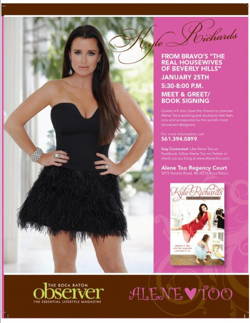 Real Housewives of Beverly Hills book signing at Alene Too in Boca Raton poster