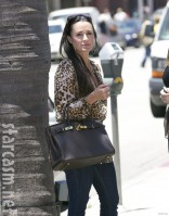Kyle Richards arrives at the Kyle by Alene Too store in Beverly Hills