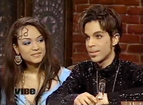 Prince and wife Mayte Garcia in 1997
