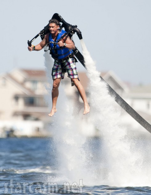 Pauly D flies around wearing a jet pack while filming Jersey Shore Season 6