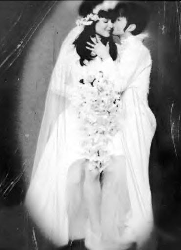 Mayte Garcia and Prince wedding photo