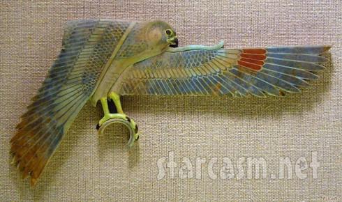 Rihanna falcon tattoo original Egyptian artifact at the Met Museum