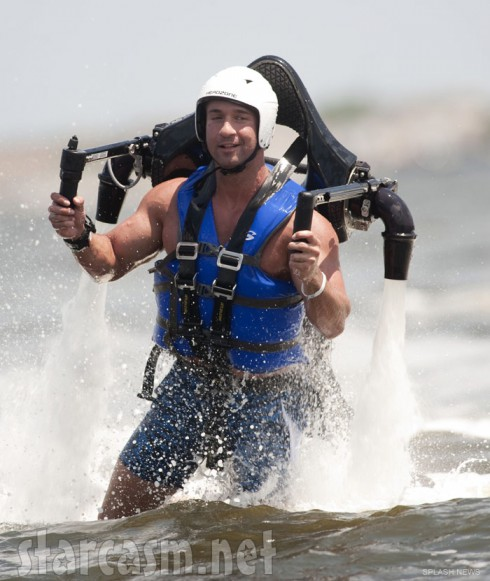 The Situation flies around in a jet pack while filming Jersey Shore Season 6