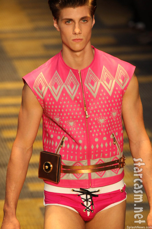 Versace Unleashes Pink Manties Manny Pack Murse Ensemble
