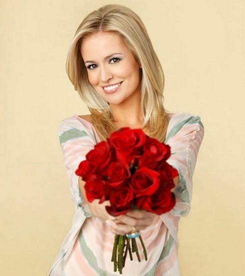 Emily Maynard holding roses