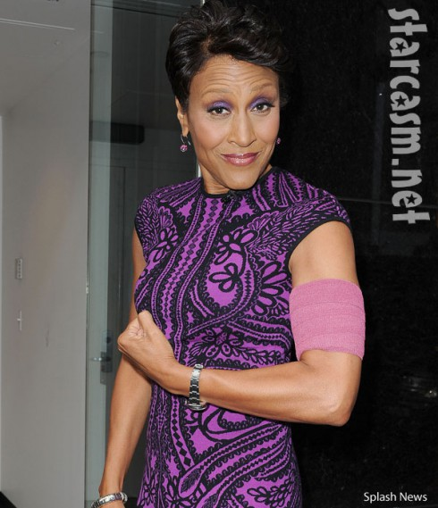 Robin Roberts purple armband fashion bone marrow