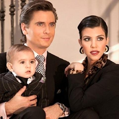Scott Disick, Kourtney Karashian, and Mason Dash family picture