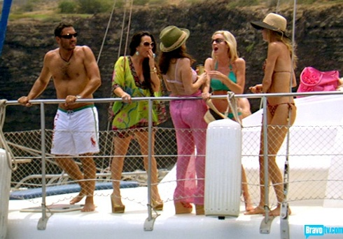 Kyle Richards with Brandi, Camille, and Lisa