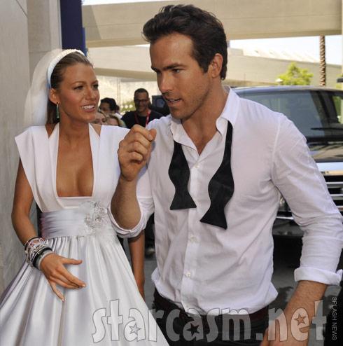Ryan Reynolds Blake Lively secret wedding photo?
