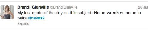 Brandi Glanville calls Kristen Stewart a home-wrecker compares her affair with Rupert Sanders to LeAnn Rimes and Eddie Cibrian