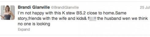 Brandi Glanville tweets about the Kristen Stewart Rupert Sanders affair