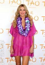 Brandi Glanville at Tao Beach in Las Vegas for their Beach Luau party July 28 2012