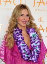 Brandi Glanville lei and bikini at Tao Beach in Las Vegas 2012