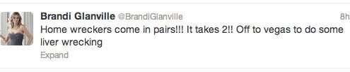 Brandi Glanville liver wrecking Tao Beach Luau tweet