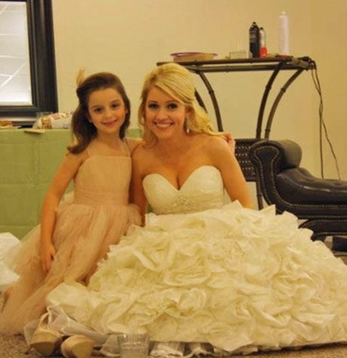 Britney of Big Brother 12 and 14 at her wedding