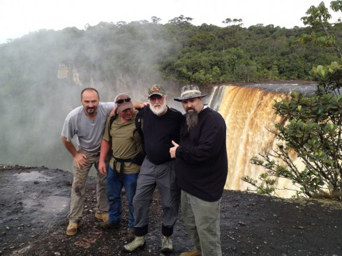 The Hoffmans filming Gold Rush Guyana in South America