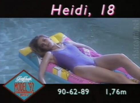 Heidi Klum at 18 on German television
