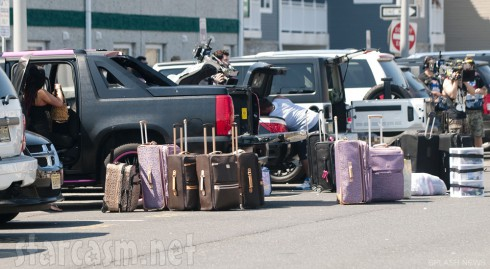 Suitcases for the cast of Jersey Shore on the last day of filmin Season 6