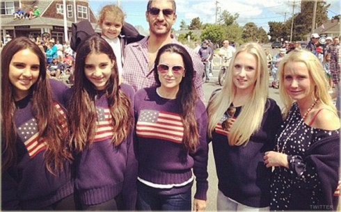 Kyle Richards nose job photo from the Fourth of July