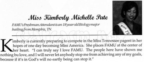 K. Michelle as a Freshman at FAMU