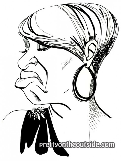 NeNe Leakes Pretty on the Outside drawing by David Gilmore
