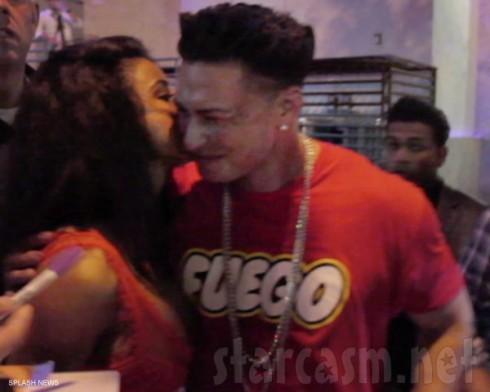 Lina Martini kisses Pauly D outside Club Zouk in Dallas Texas