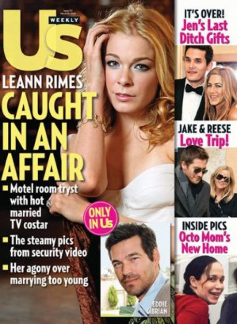 Us Weekly LeAnn Rimes caught in an affair with Eddie Cibrian cover March 2009