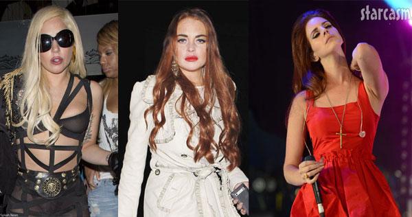 Lady gaga Lindsay Lohan Lana del Rey dinner drinks