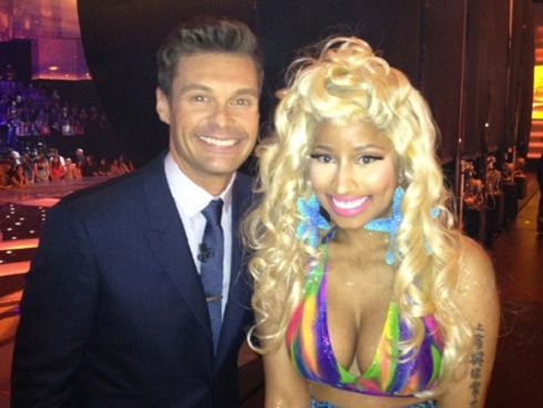 Nicki Minaj and Ryan Seacrest on 'American Idol