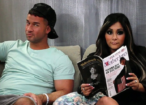 "Mike ""The Situation"" Sorrentino and Nicole ""Snooki"" Polizzi in 'Jersey Shore' season 6"